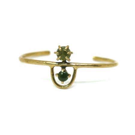 Laurel Hill Jewelry Arche Cuff - Jade & Vessonite