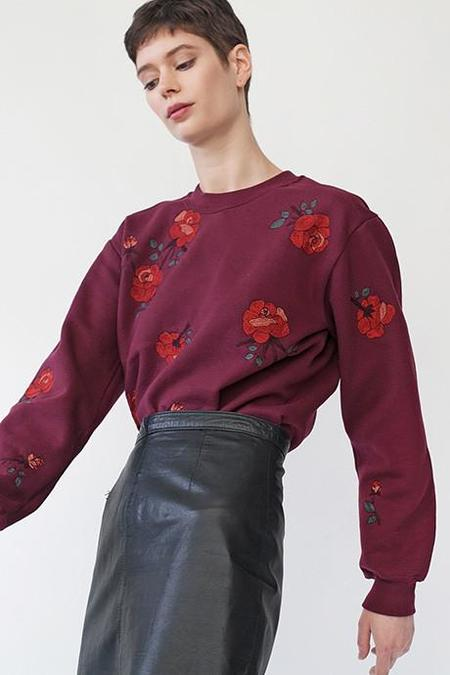 Pari Desai Rose Embroidered Sweater