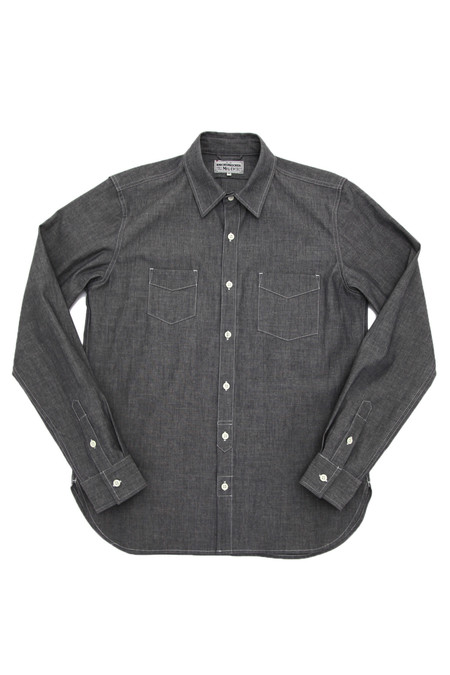 Knickerbocker Long Sleeve Service Shirt - Charcoal