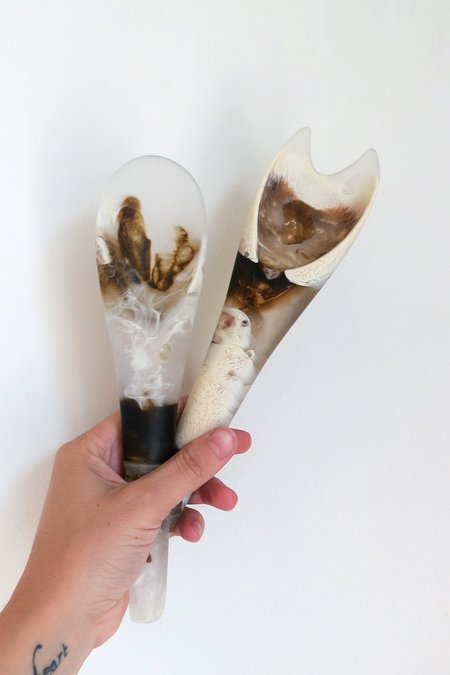 Dinosaur Designs Bones Servers in Light Horn
