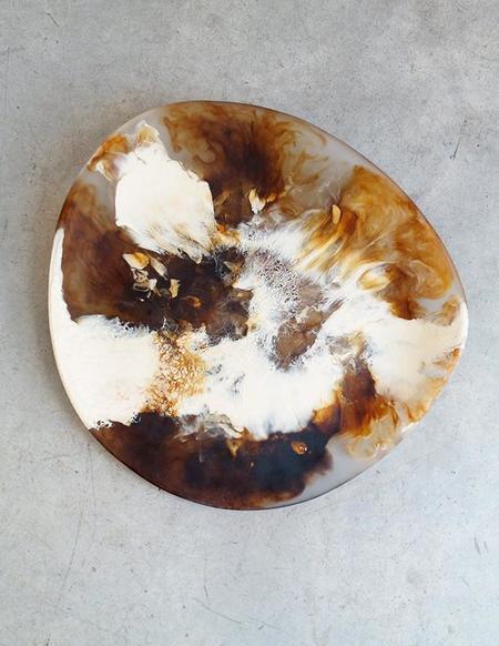 Dinosaur Designs Large Modern Tribal Platter in Light Horn