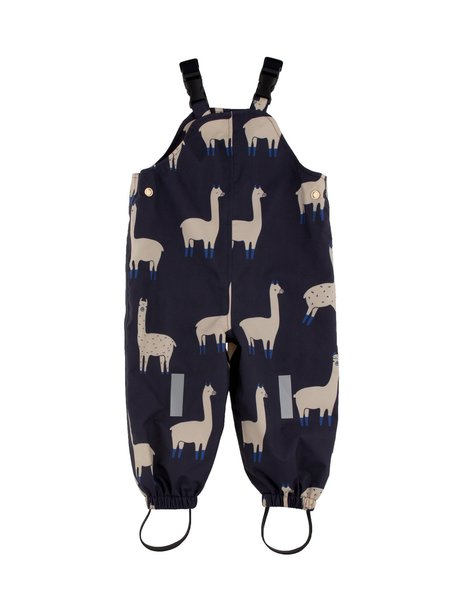Kid's Tiny Cottons LLAMA PRINT SNOW PANTS - NAVY