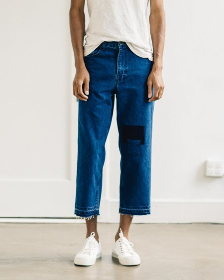 Olderbrother Patched Denim Five Pocket Pants
