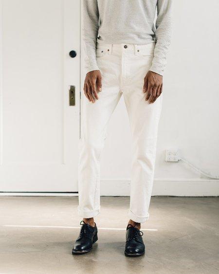 OrSlow Slim Fit White Denim Jean