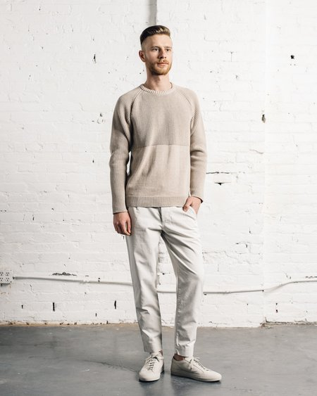 Universal Works Taupe Raglan Sweater