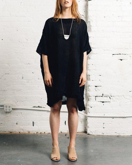 Uzi NYC Uzi Gauze Box Dress, Black