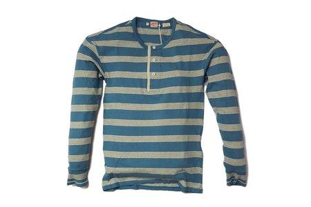 Men's Levi's Vintage Clothing LVC 1920's Sunset Henley Blue