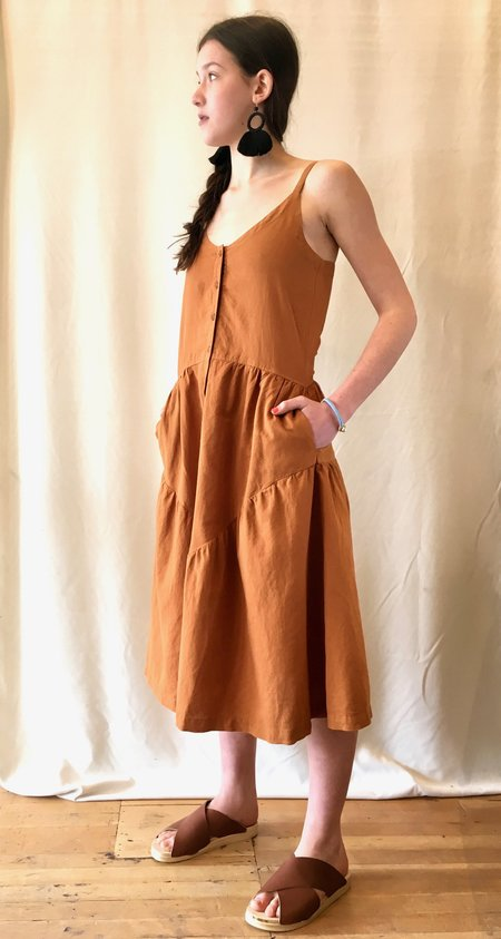 La Causa Blue Moon Dress - Terracotta