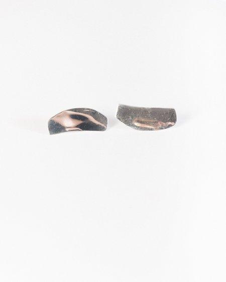 Luiny Irregular flat earrings in Silver