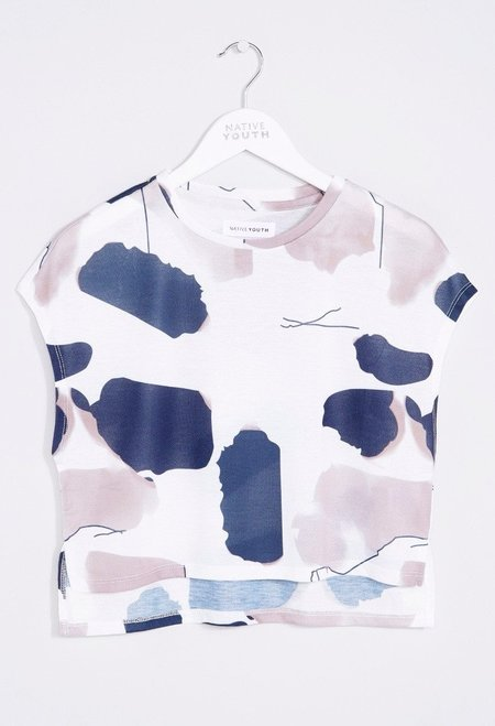 Native Youth Linear Tint Crop Top