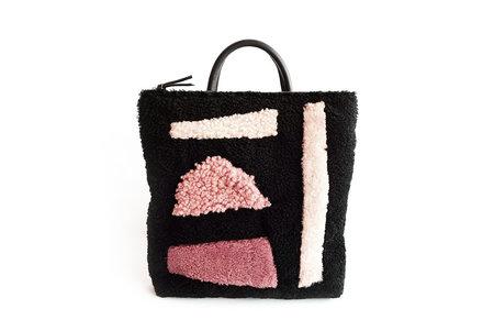 Primecut Shapes Patchwork Sheepskin Backpack