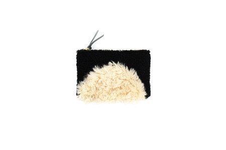 Primecut Sunset Patchwork Shearling Zipper Wallet