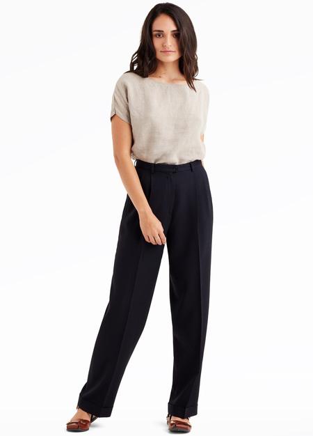 elborne Vintage 1980's Armani crepe wide-leg pants