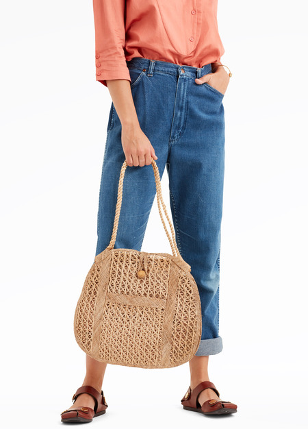 elborne Vintage Straw Bag