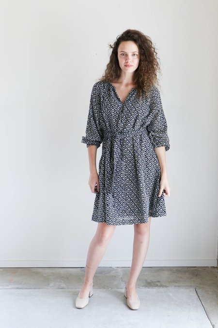 Apiece Apart Isla Mini Dress in Navy Tracks