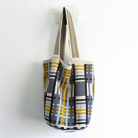 Guanabana large Wayuu beach bag