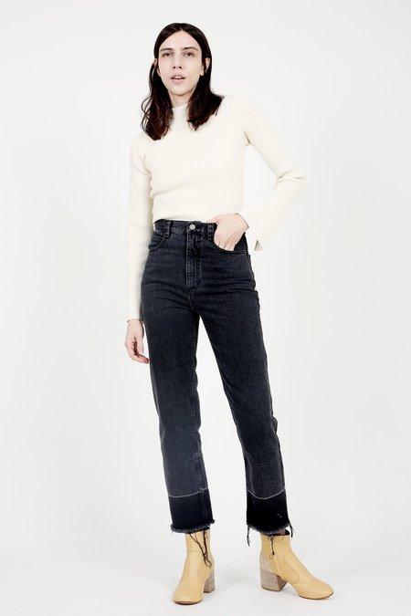 Nomia Ivory Slit Collar Sweater