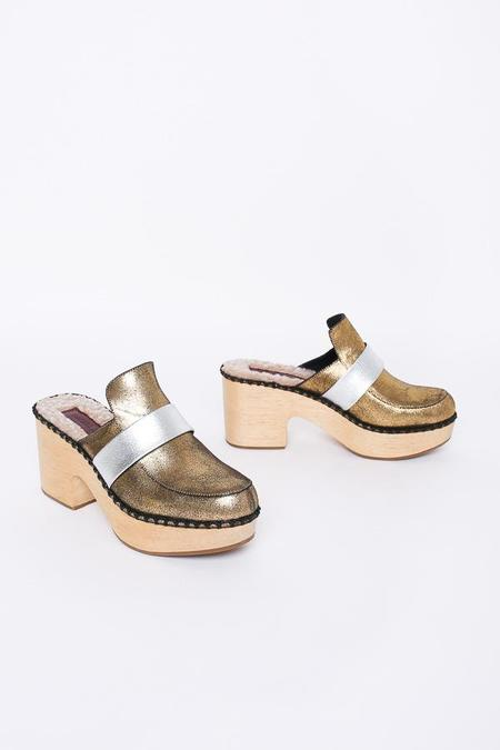 Rachel Comey Beau clog in old gold