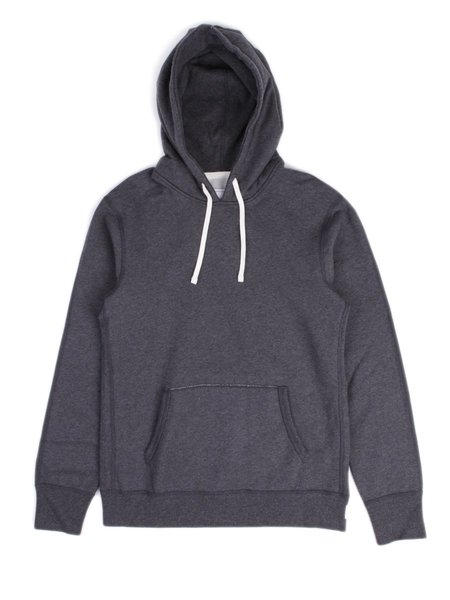 Reigning Champ Midweight Terry Pullover Hoodie - Heather Charcoal