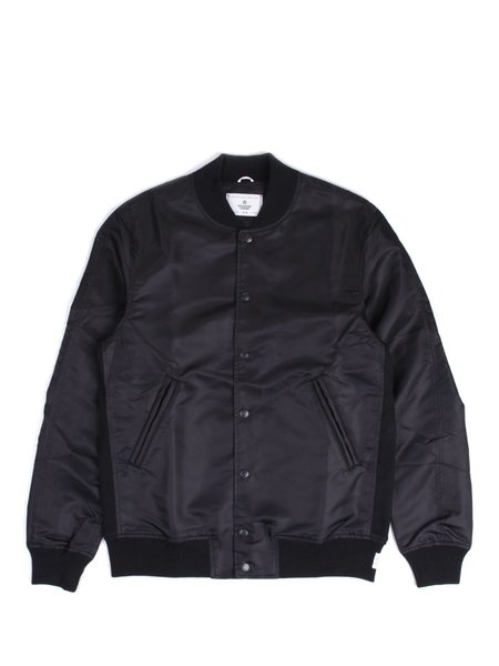 Reigning Champ Logo Stadium Jacket - Black