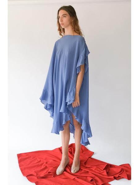 Electric Feathers Infinite Convertible Ruffled Kaftan - French Blue