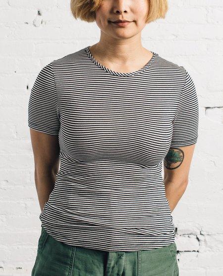 Mara Hoffman T-Shirt, Black/Cream Stripe