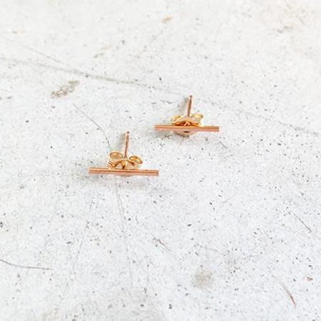 Kathleen Whitaker Stick Stud 14k Rose Gold Earrings