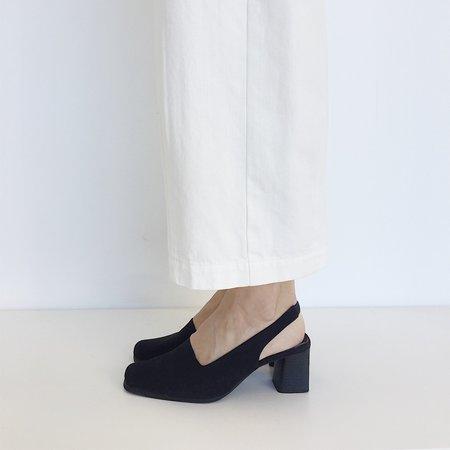 Johan Vintage Black Slingback Heel