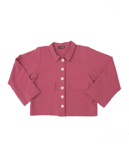 Ilana Kohn Mabel Crop Jacket in Rose