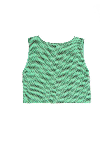 Ilana Kohn Kate Crop in Green Grid