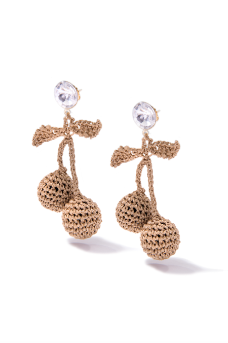 Venessa Arizaga Cherry Picking Earrings Gold