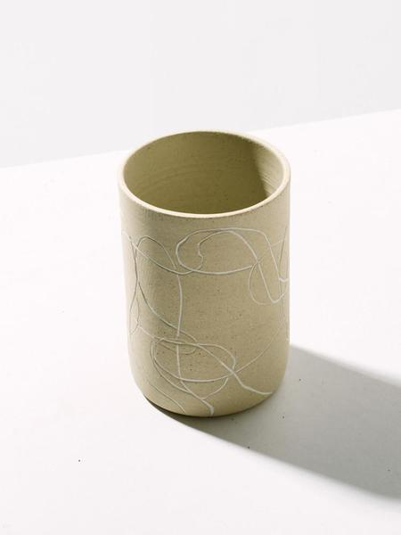 Workaday Handmade White Line Tumbler