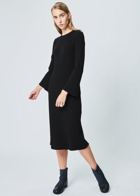 Simon Miller Wells Ribbed Dress in Black