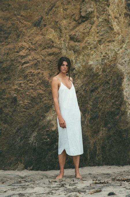 Ozma Silk Noil Slipdress in Natural