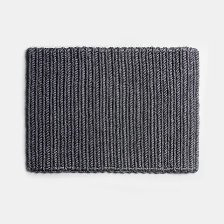 Someware Braided Doormat - Dark Grey