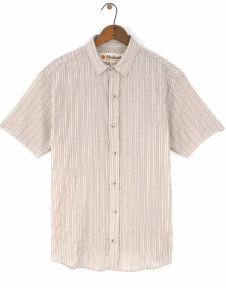 Mollusk Wilson Shirt - Tan Stripe