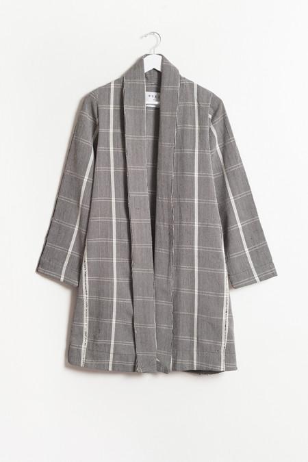 Osei-Duro Theca Coat in Handwoven Gingham