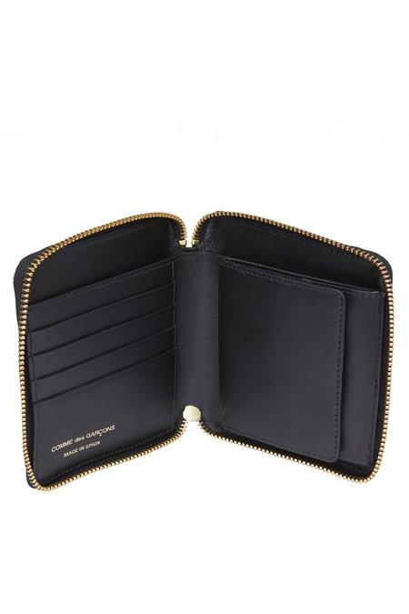 Comme des Garçons Leather Zip Wallet - Tartan Patchwork SA-2100TP