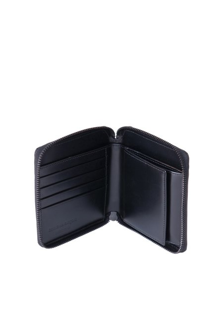 Comme des Garçons SA2100VB Leather Zip Wallet - Very Black