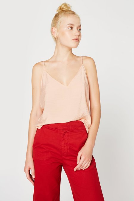 Lacausa Clothing Sofia Slip Tank in Rosewood