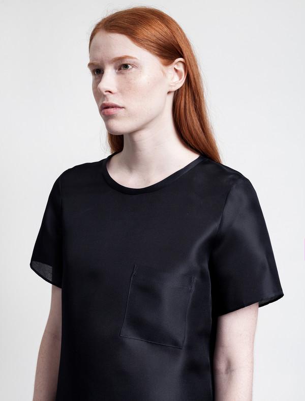 Organic by John Patrick Organdy T-Shirt Navy