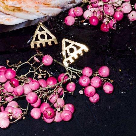 Alynne Lavigne Delta Triangle Earrings