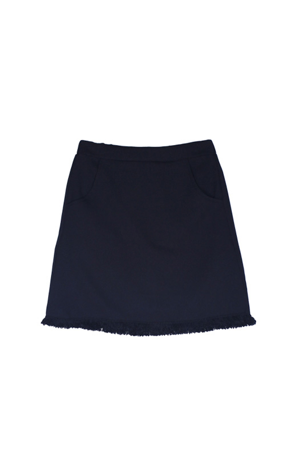 AMONG by ROCKET X LUNCH Black Fringe Skirt