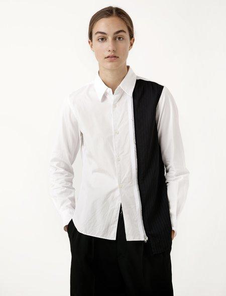 Comme des Garcons Comme des Garcons Womens Pinstripe Panel Shirt