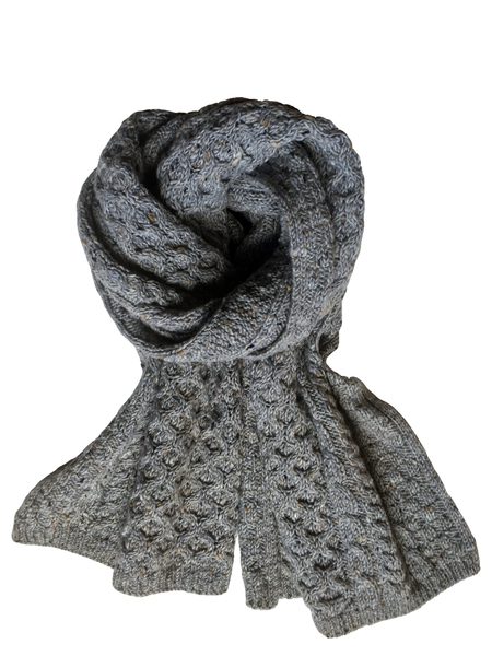 David Hart Grey Irish Fisherman Scarf