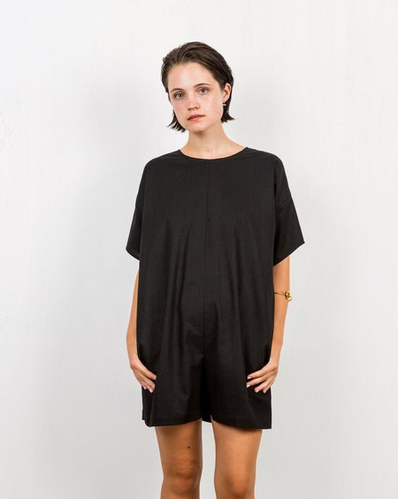 In God We Trust Cliff Romper - Black