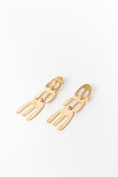 Seaworthy Ilhan 3 Tier Earring - Brass