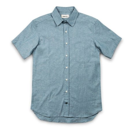 Taylor Stitch The Short Sleeve California in Slub Chambray