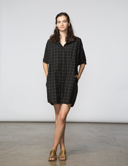 SBJ Austin Mandy Tunic - Black & White Window Pane