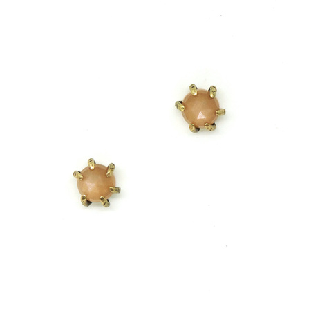 Laurel Hill Jewelry Io Studs // Peach Moonstone